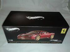 Hot Wheels Elite Ferrari 458 Italia China 1/18