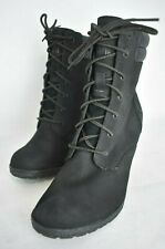 TIMBERLAND Size US 6, TILLSTON Black Nuback Heel Boot