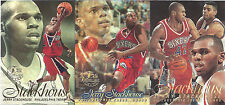 1996-97 Flair Jerry Stackhouse Showcase Glossy 3 Card Perforated Panel
