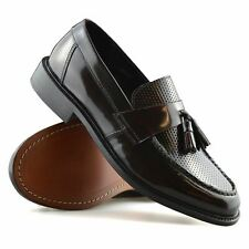 Mens Ikon Quad Leather Slip On Tassel Loafers Casual Smart Moccasin Shoes Size