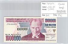 BILLET TURQUIE - 1.000.000 LIRA (1995) - QUASI NEUF !