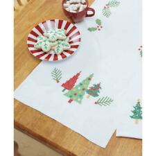 Herrschners® Trim the Tree Table Runner & Napkins Stamped Cross-Stitch
