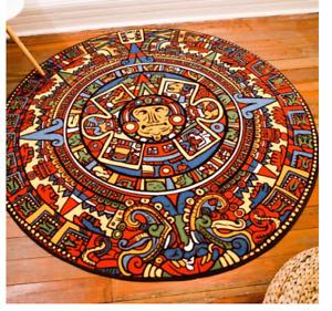 Native American Inca Aztec Tribal Rug Carpet 80 x 80CM welcome mat Elegant