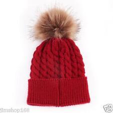 Newborn Winter Kids Baby Warm Hat Knitted Wool Girl Boy Hemming Crochet Ski Cap