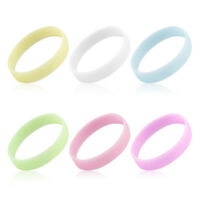 New 1/2Pcs Glow In The Dark Luminous Silicone Wristband Wrist Band Bracelet Gift