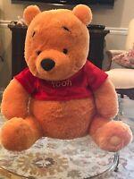"Winnie The Pooh Bear Plush Toy Doll  18"" Disney Store Original"