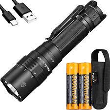Fenix PD40R v2 3000 Lumen USB-C Rechargeable LED Flashlight + 2x 5000mAh Battery