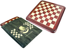 "Bud Rosewood / Maple Rounded Corners Classic Flat Chess Board - 21"" With Bag"