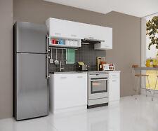 Küche Singleküche weiß 180cm Modulküche Einbauküche Küchenblock Pantry Zeile NEU