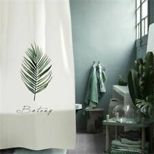 Leaves Printed Shower Curtain Waterproof Polyester Partition Curtain With Hooks