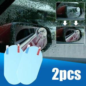 2x Car Anti Fog Anti-glare Rainproof Rearview Mirror Film Cover Trim Accessories