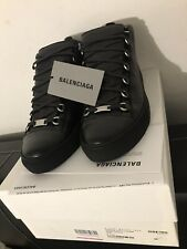 "Balenciaga Arena High Tops Sneaker ""Black"" 412381 Leather Schuhe EU42 UK8"