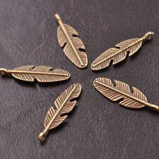 10/30/50Pcs Tibetan Silver Feather Leaves Charm Pensant for 3077