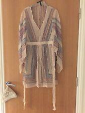 BCBG MAXAZRIA drapé imprimé soie asymétrique robe taille xxs RRP £ 250