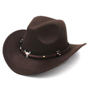 Cute Kid Baby Girl Boy Western Wool Cowboy Hat Child Medium Brim Fedora Jazz Cap