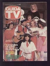 GUIDA TV MONDADORI 12/1982 GIANNI MORANDI FILM CARTONI ANIMATI TV LOCALI CENTRO