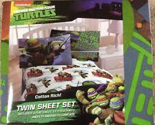 Kid Bedding Twin Microfiber Sheet Set Polyester Ninja Turtles Child Bedroom Gift