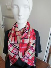 Laura Ashley Scarves Lot Floral Abstract  Silk Geometric Floral Pink Grey Orange