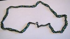 Great mini beaded spectacles strap approx 65 cm long black blue turquoise