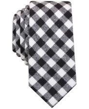 $110 BAR III MENS BLACK CHECK SLIM SILK TIE SKINNY CLASSIC NECKTIE 58 x 2.5 in