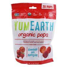 Yum Earth Organic Lollipops Real Fruit Juice Candy 4.2 oz 20 pops Bag
