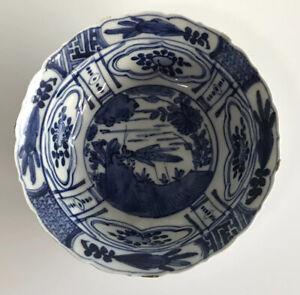 Chinese Swatow Kraak Ming Dynasty Wanli 17th Century Klapmuts Bowl grasshopper
