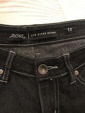 lee riders jeans 10 Black Wash Not Worn Super Skinny Low
