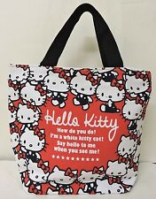 Red/Black Hello Kitty Printed Girl Causal Hand Bag w/tag