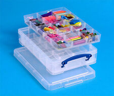 Really Useful 4 Litre Box - with 2 x trays for Hobby/Craft/Sewing /DIY etc