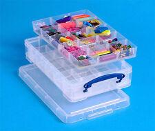 Really Useful Boîte 4 L-Avec 2 X PLATEAUX pour hobby/Artisanat/Couture/Bricolage etc