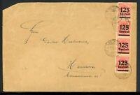 Weimar Infla 20x MiNr. 276 + ZuF gestempelt auf Brief, geprüft Infla (W347