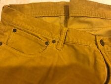 Gap 1969  Cords~YELLOW~40/34 ~STRAIGHT~Mens~CORDUROYS~CASUAL PANTS~NICE!~*