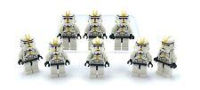 Lego 8 New Star Wars Clone Trooper Yellow Markings Star Corps Trooper People