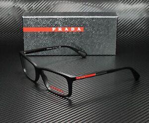 PRADA LINEA ROSSA PS 02CV 1BO1O1 Matte Black Demo Lens 55 mm Men's Eyeglasses