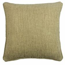 """BASKET WEAVE WOVEN NATURAL BEIGE PIPED CUSHION COVER 17"""" – 43CM * F1*"""