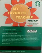 "2020 STARBUCKS ""MY FAVORITE TEACHER"" GIFT CARD #6180 NO VALUE MINT"