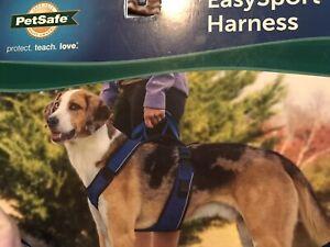 PetSafe Easy Sport Harness Padded Dog Walking Vest w/Handle Blue Medium