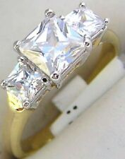 14K GOLD EP 3.0CT DIAMOND SIMULATED ENGAGEMENT RING size 9 or R 1/2