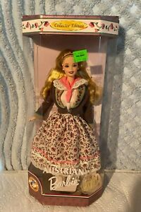 #21553 Vintage BARBIE AUSTRIAN COLLECTOR EDITION DOLLS OF THE WORLD 1998