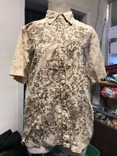 GUESS MENS BEIGE Paisley Shirt Button Up Size SMALL