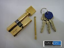 EUROSPEC MP10 EURO THUMBTURN CYLINDER 32/32mm (64mm) WITH MASTERKEY 6PIN BRASS