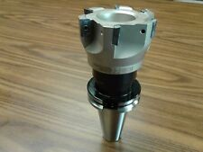 3 90 Degree Indexable Face Shell Millface Milling Cutter Apkt W Cat40 Arbor