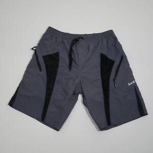 Santic Men's Gray Padded Athletic Nylon Cycling Shorts Size 2XL See Description