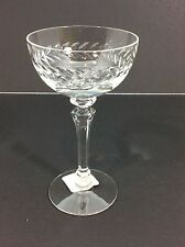 Vintage Tiffin Crystal Laurel Wreath Deep Etch Tall Champagne Sherbet Glass