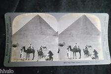 STB316 Egypte Egypt Pyramide de Khufu Gizeh photo STEREO albumen