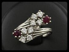 Edler Rubin Brillant Ring ca. 1,00ct Goldschmiedearbeit