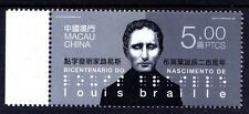 Macao 2009 MNH, Birth of Louis Braille, Blind, Health, Visual Handicaps -G1