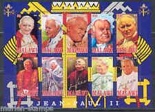 MALAWI  2012 POPE JOHN PAUL II SHEET OF TEN PART II  MINT NH