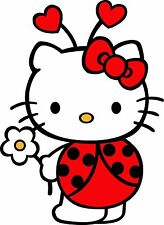 Hello Kitty Ladybug  iron on transfer 8x10