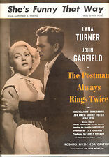 "The Postman Always Rings Twice ""She's Funny That Way"" Lana Turner John Garfield"